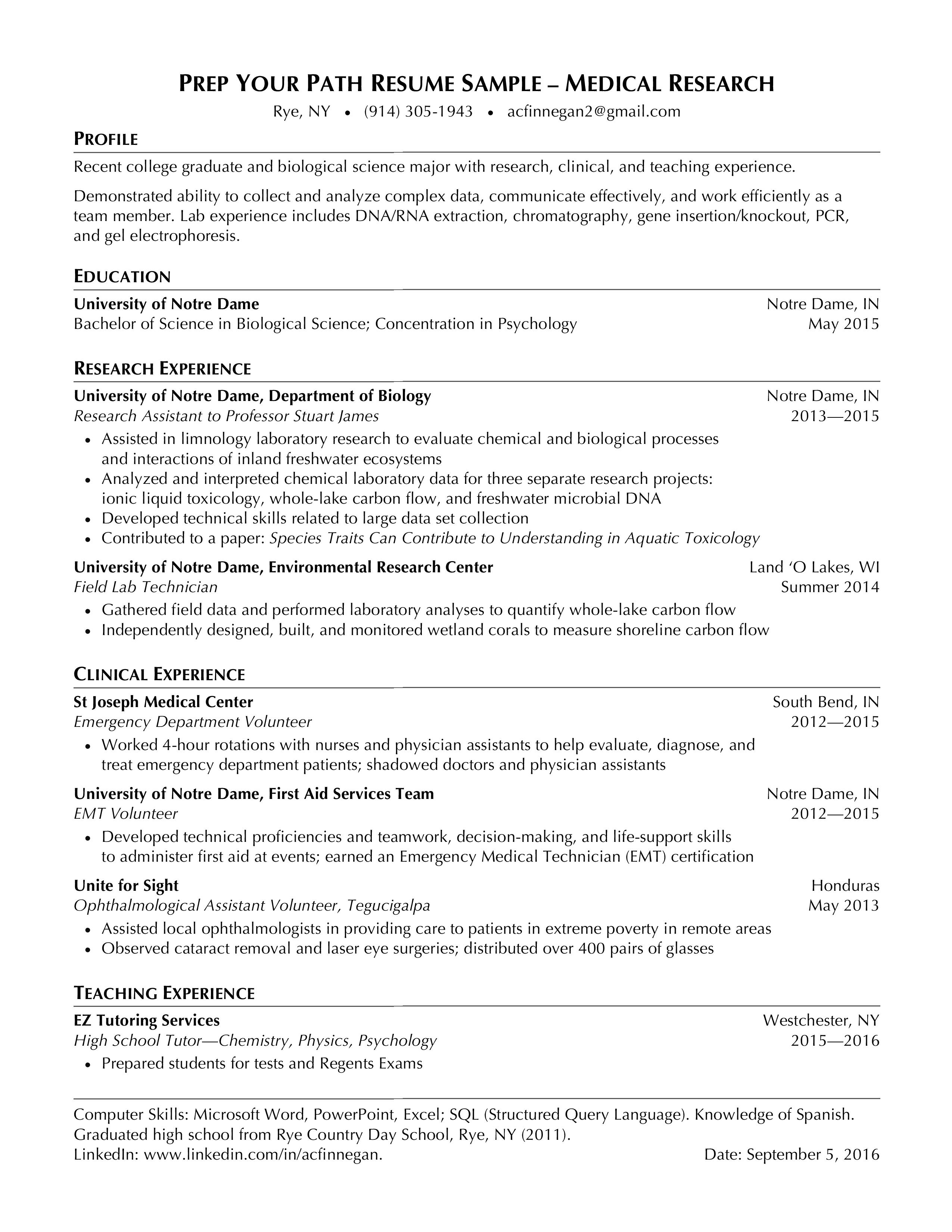 Targeted #1 Resume