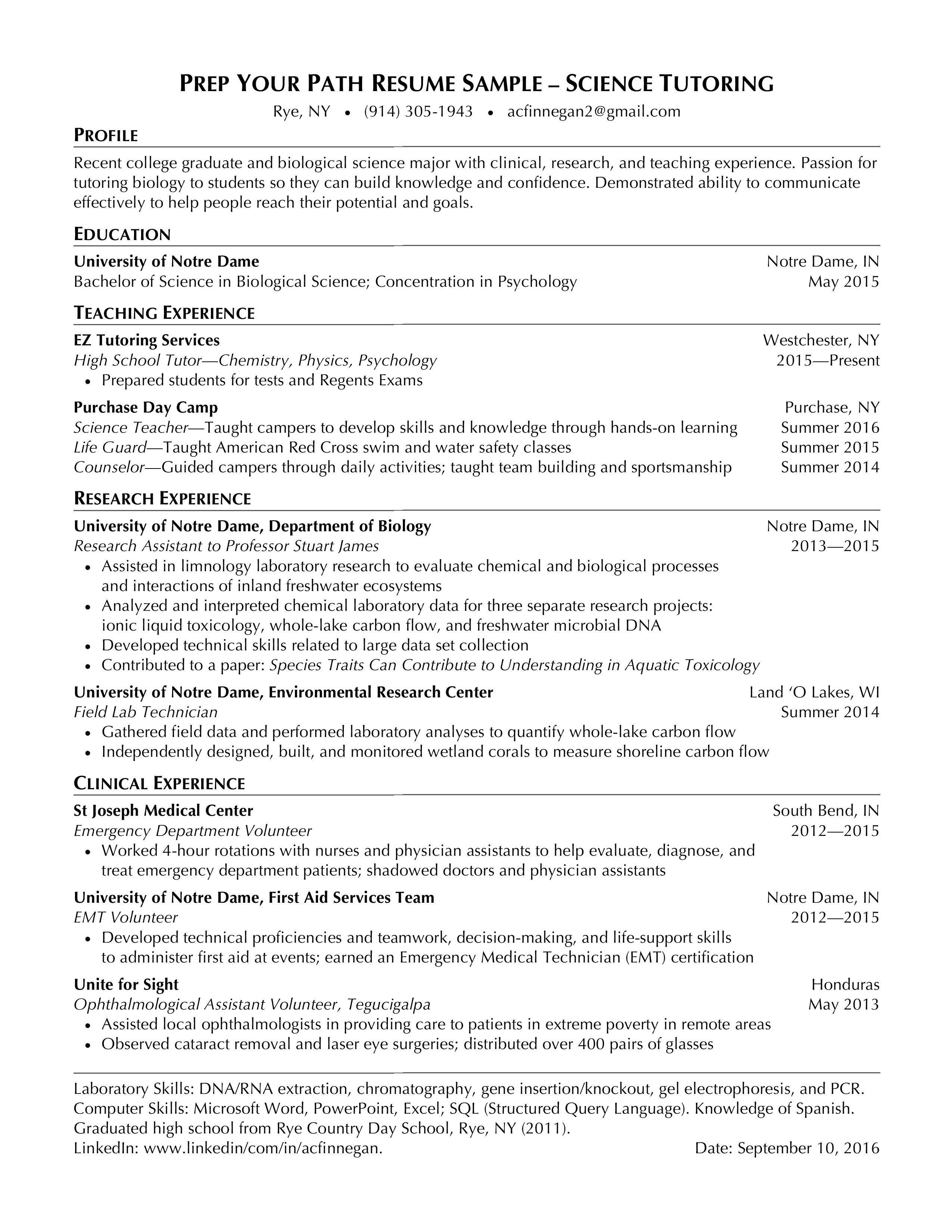 Targeted #2 Resume